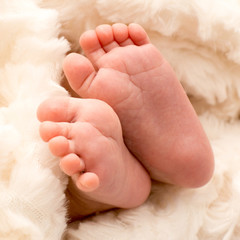 Closeup of baby feet