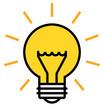 Shining light bulb vector icon