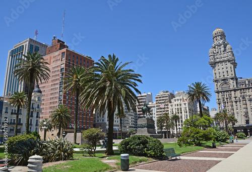 Keuken foto achterwand Centraal-Amerika Landen Montevideo, Plaza Independencia