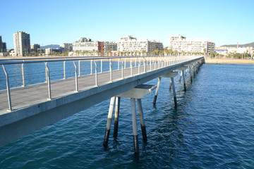 Pont del Petroli, Badalona, a place for walking over the sea