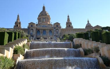 Vista de Montjuic en Barcelona, España
