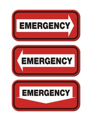 emergency signs - red sign