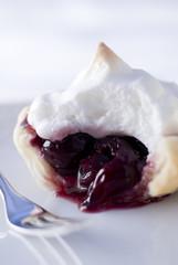 dark cherry meringue tartlet.