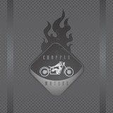 fire motorcycle label button