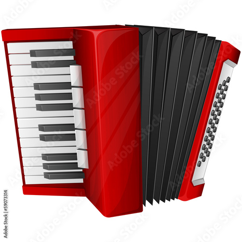 Red accordion - 59073314