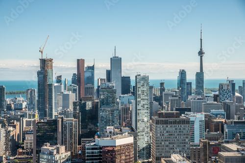Stampa su Tela Scenic view of downtown Toronto