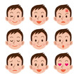 男性の表情セット