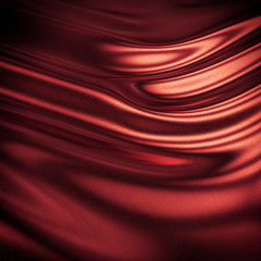 Abstract 3D red silk background