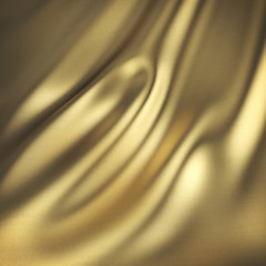 Abstract 3D golden silk background