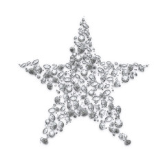 Abstract luxury diamond christmas star - clipping path