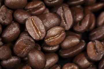 Texture of freshly roasted coffee beans