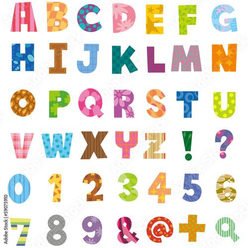 """無料 アルファベット表 無料 : アルファベット、数字""""Fotolia ..."""