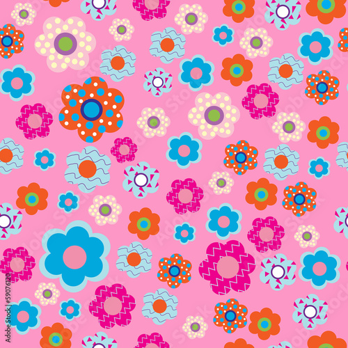 Pattern with fabric flowers