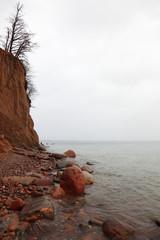 autumn cliff in Orlowo, Gdynia Poland