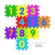 Alphabet puzzle - numbers
