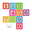Wooden blocks - numbers - 59077531