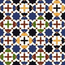 Powtarzalne wzór płytki Islamska Marokański