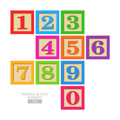 Wooden blocks - numbers
