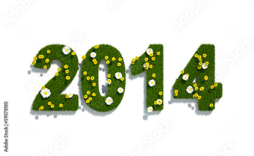 canvas print picture new year 2014 3d logo