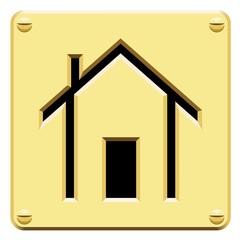 Plaque symbole maison