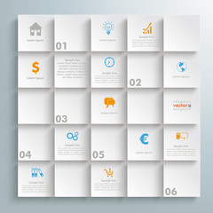 White Square And Shadows Infographic Design