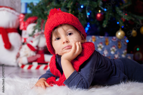 Boy on chrismas time