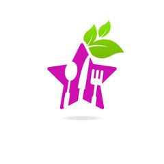 Kitchen sign icon star