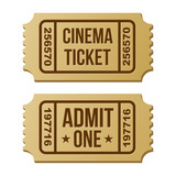 Retro cinema ticket.