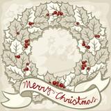 jasny wieniec z życzeniami świąteczna ilustracja