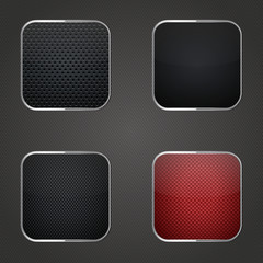 Carbon fiber button set
