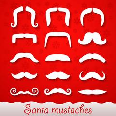 Santa mustaches