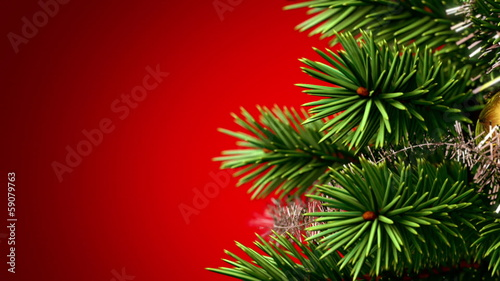 beautiful Christmas tree background, seamless loop