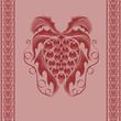 wine grape engraving background