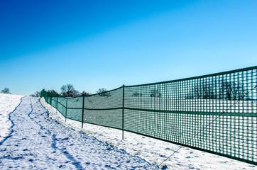 Schutz vor Schneeverwehungen