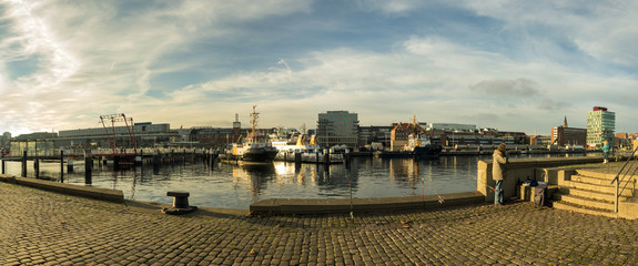 The harbor in Kiel, Germany