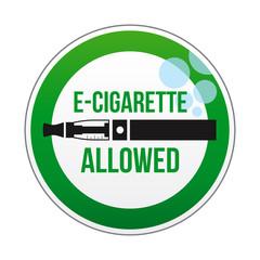 E-cigarette allowed