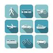 Transportation icons set - 59082333