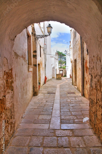 Alleyway. Presicce. Puglia. Italy. - 59082554