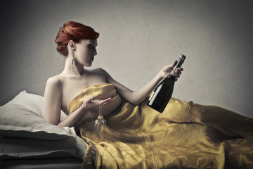 Champagne in Bed