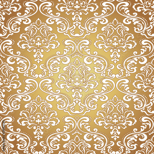 Seamless pattern background.Damask wallpaper.