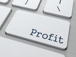 Profit on White Keyboard Button.