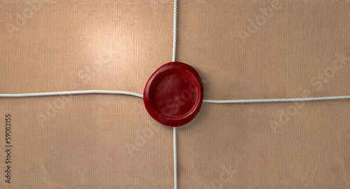 Parcel With Red Wax Seal And String