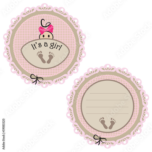 Baby card - Its a girl theme