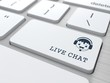 Live Chat on White Keyboard Button.