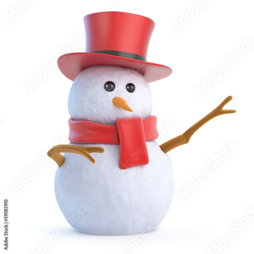 Snowman top hat points