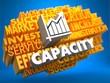 Capacity. Wordcloud Concept.