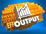 Output. Wordcloud Concept. poster