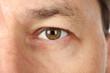 Close up of portrait man's face.
