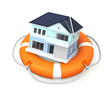 Life buoy and house