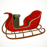 Santa's sleigh isolated on a white background